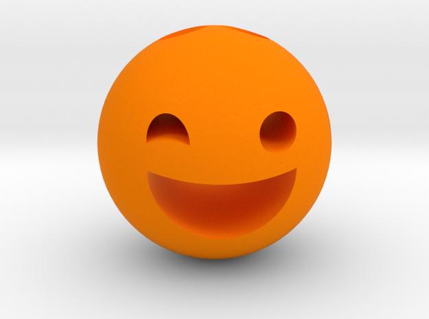 Keychain Winking Girl in Orange Processed Versatile Plastic