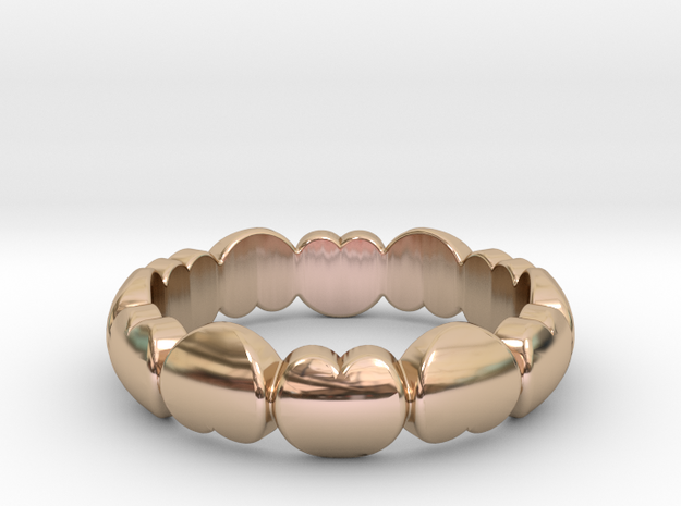 Ring Of Love  in 14k Rose Gold Plated: 6 / 51.5