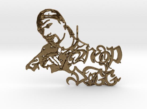 Snoop Doggy Dog Pendant in Raw Bronze