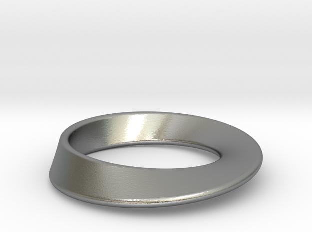 Moebius Strip pendant in Natural Silver