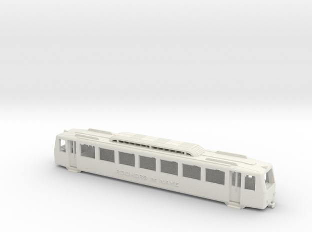 MGN Bhe 2/4 - H0e 1/87 in White Natural Versatile Plastic