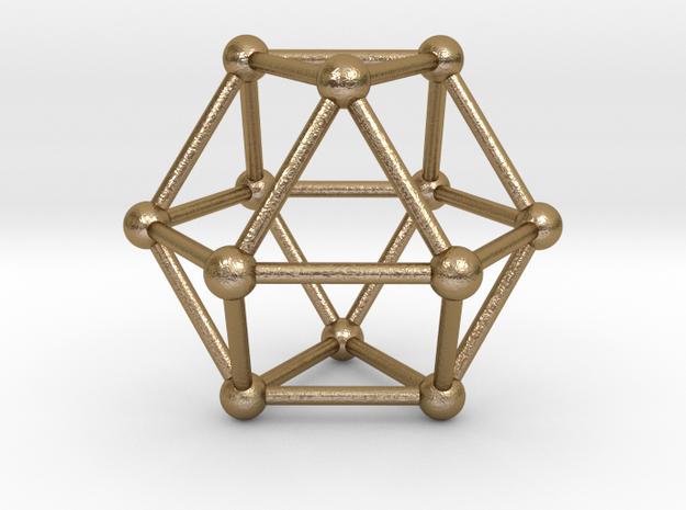 Vector Equilibrium (VE) 40mm in Polished Gold Steel