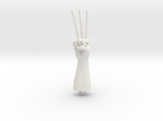 Logan Wolverine claws pendant in White Natural Versatile Plastic