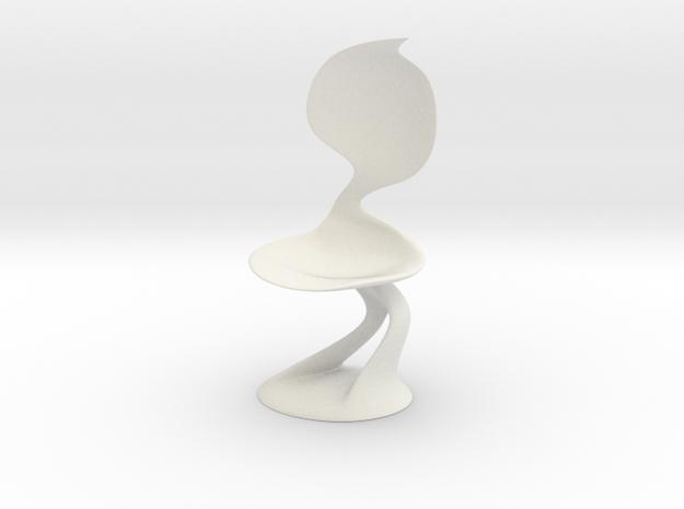 Smooth Chair in White Natural Versatile Plastic: Medium