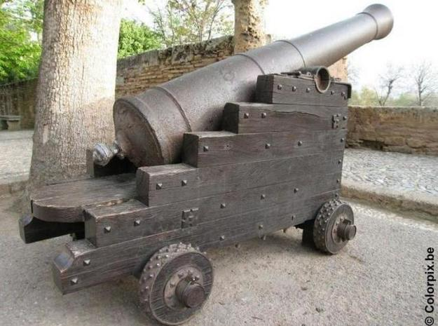 Medieval Cannon 3d printed Based on something like this.