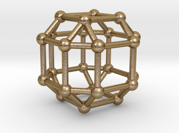 UNIVERSO RhombiCubeOctahedron in Polished Gold Steel