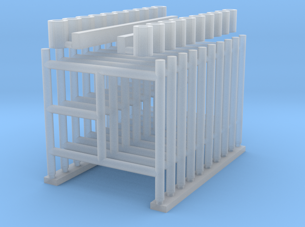 'HO Scale' - 5' Wide x 5' Tall Scaffolding in Smooth Fine Detail Plastic