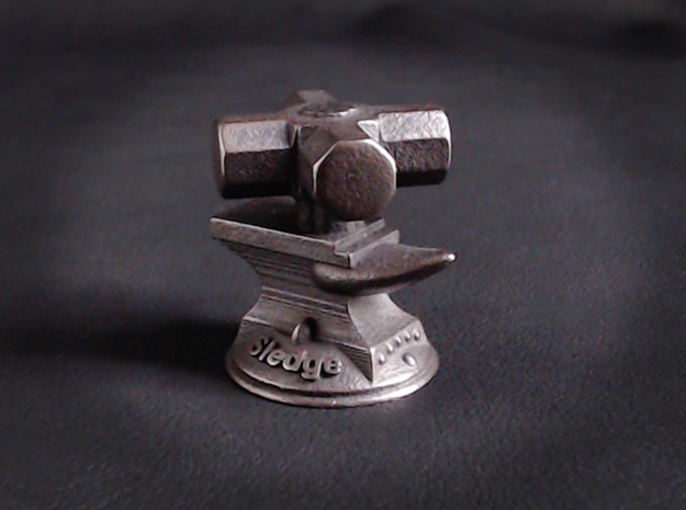 Sledge Hammer  in Polished and Bronzed Black Steel