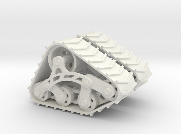 1/24 1/25 Trax offroad treads in White Natural Versatile Plastic
