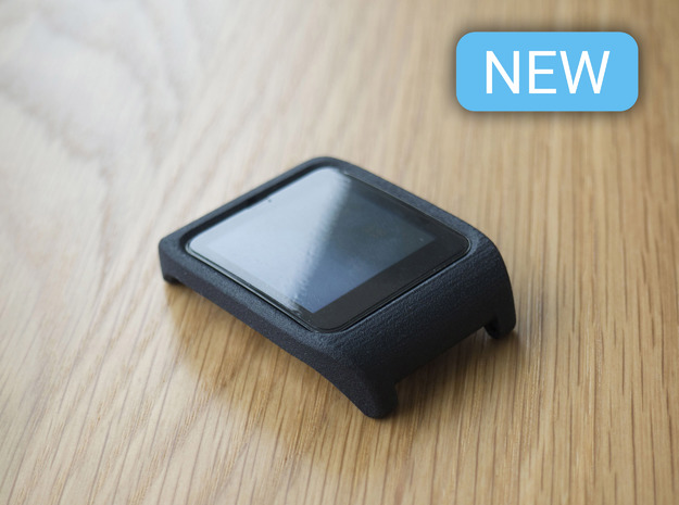 Sony SmartWatch 3 RAISED BEZEL adapter 24mm in Black Natural Versatile Plastic
