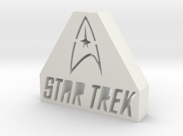 Star Trek Logo in White Natural Versatile Plastic