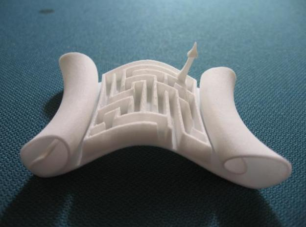 Magic Scroll ($18) 3d printed Here it is, int he flesh... I mean plastic (SWF material).