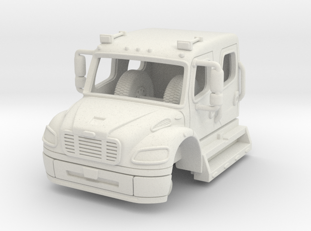 1/64 Freightliner Crew Cab in White Strong & Flexible