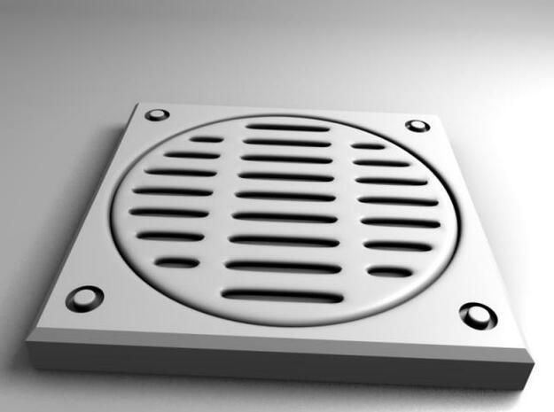Square storm drain 3d printed Render