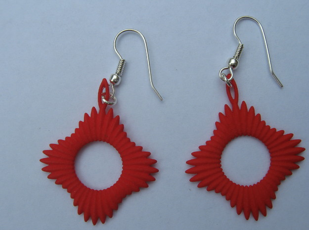 Forty Ray Sun Earrings 3d printed