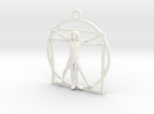 Vitruvian man 52mm in White Processed Versatile Plastic