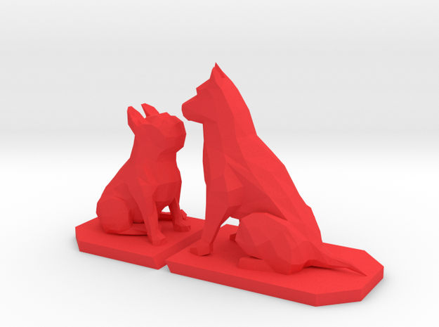 Frenchie & Sheppard in Red Strong & Flexible Polished: Large