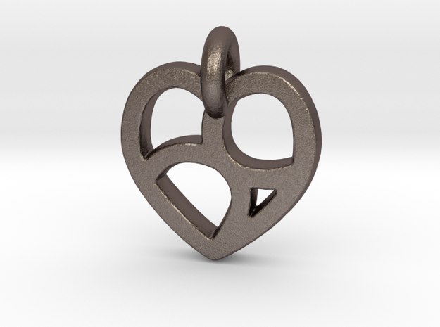 Lover's 69 Heart in Stainless Steel