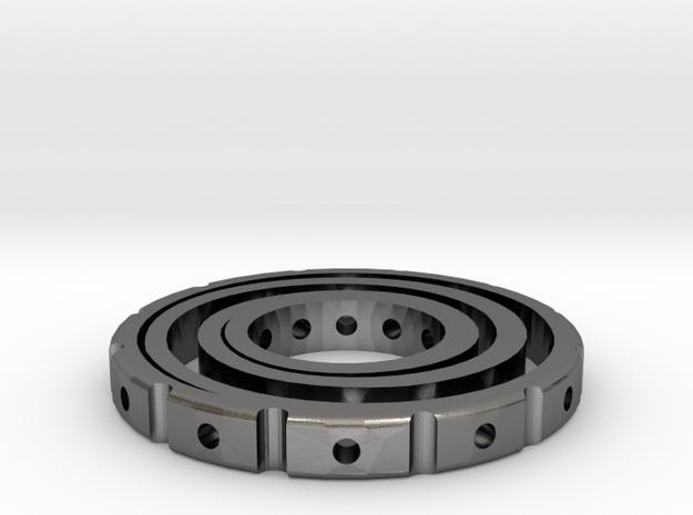 Swirl Spinner in Polished Nickel Steel