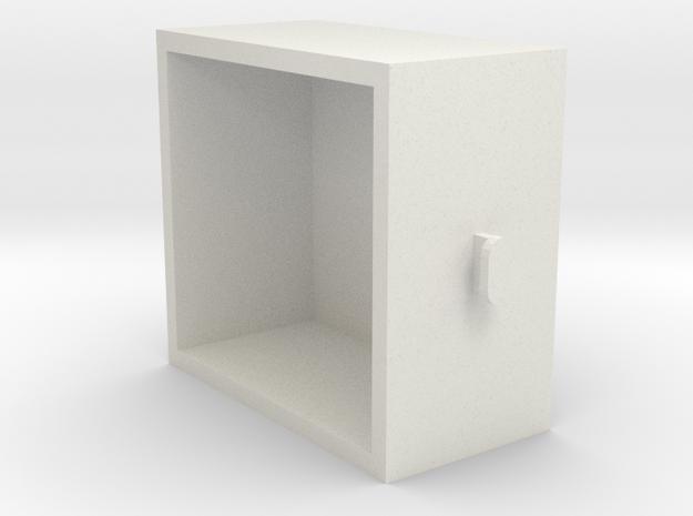 Building Block Drawer in White Natural Versatile Plastic