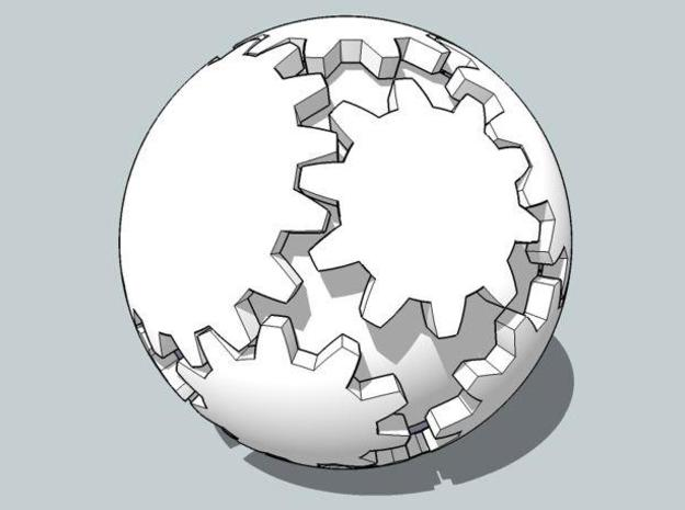 Gear Ball in White Strong & Flexible