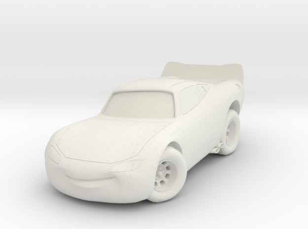 Mcqueen Lightning Cars in White Natural Versatile Plastic