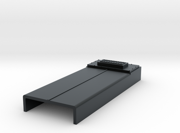 SD40-2 Dynamic Brake Blank (N) in Black Hi-Def Acrylate