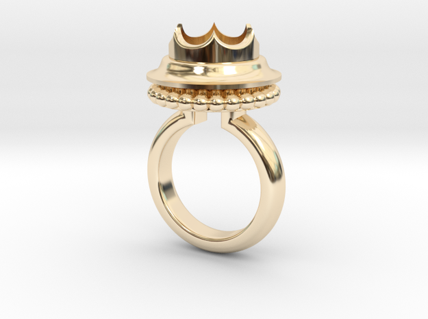 Ring Marie De Bourgogne in 14k Gold Plated Brass: 5.5 / 50.25