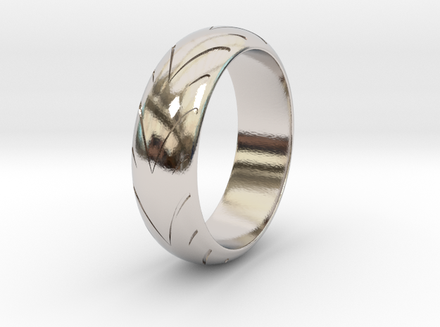 Raban - Racing  Ring in Rhodium Plated: 6.25 / 52.125