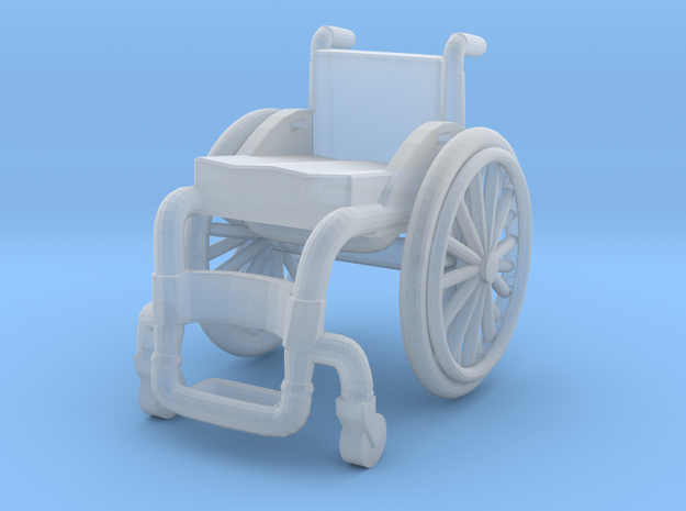 WheelChair 02. HO Scale (1:87) in Smooth Fine Detail Plastic