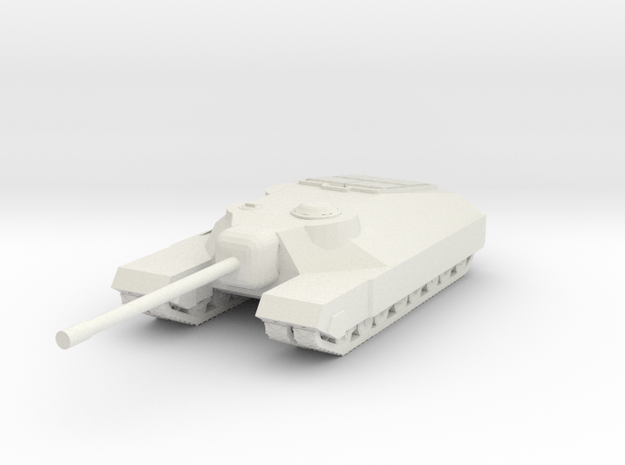 T95 Heavy tank destroyer in White Natural Versatile Plastic