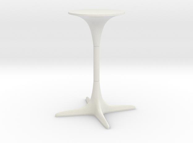 Burke Tulip Table Propeller Base in White Natural Versatile Plastic: 1:12
