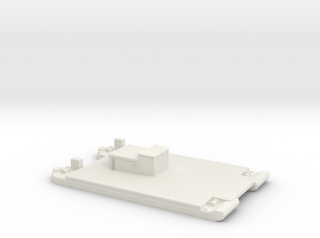 1/350 Siebel Ferry 40 with small deckhouse in White Natural Versatile Plastic