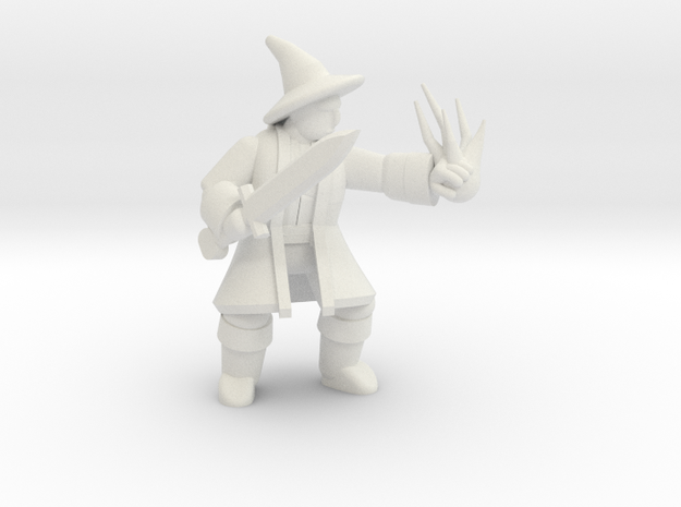 General Wizard Mini 2 (Sword and Spell) in White Strong & Flexible