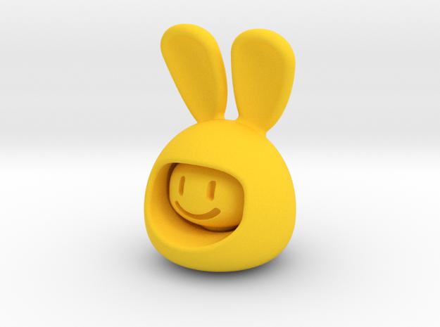 Emoji Rabbit in Yellow Processed Versatile Plastic