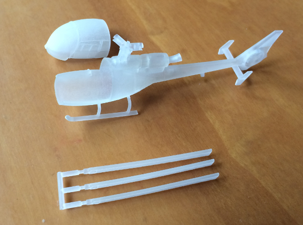 035A SA-341 Gazelle 1/144 in Smooth Fine Detail Plastic