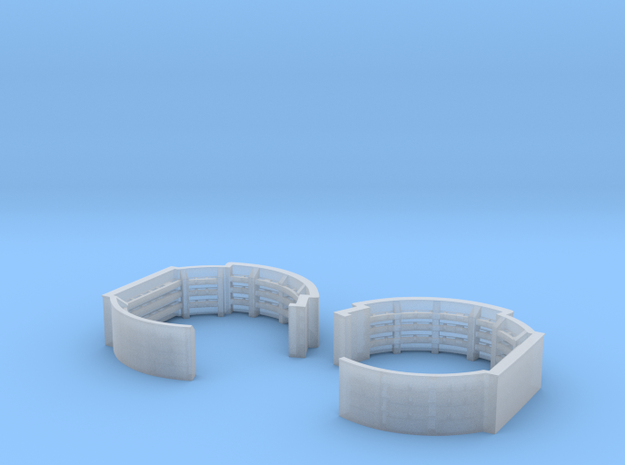 1/192 40mm Quad Midships Tub Set Ver. 2 in Frosted Ultra Detail