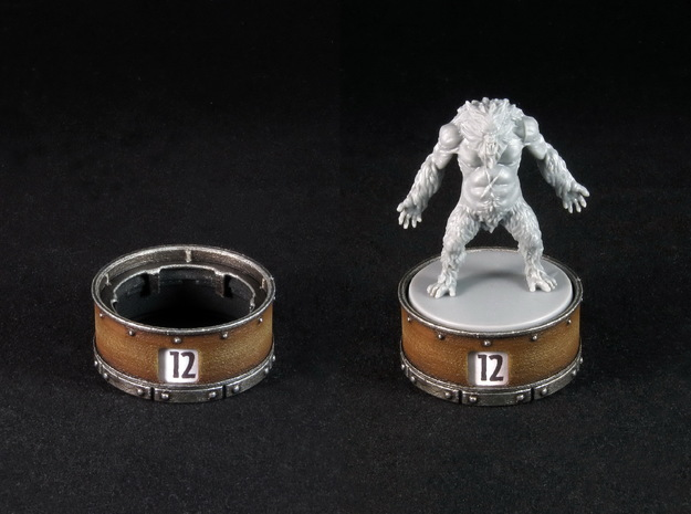 Point counter/miniature base - 35mm (rotating)