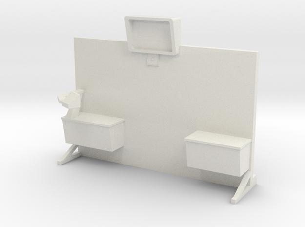 Sickbay Wall (Star Trek Classic) in White Natural Versatile Plastic: 1:30
