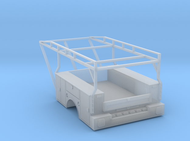 Dually Truck Utility Tool Box Bed - 1-87 HO Scale in Frosted Ultra Detail