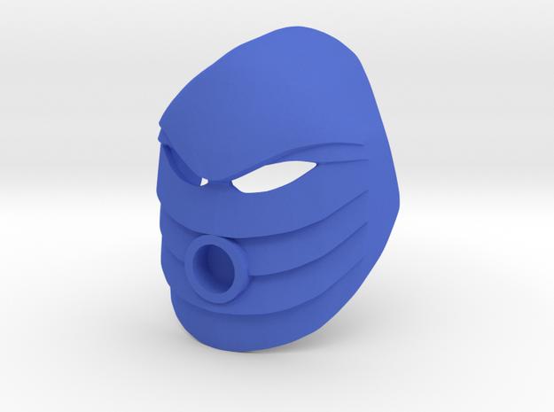 Noble Kanohi Rau in Blue Processed Versatile Plastic