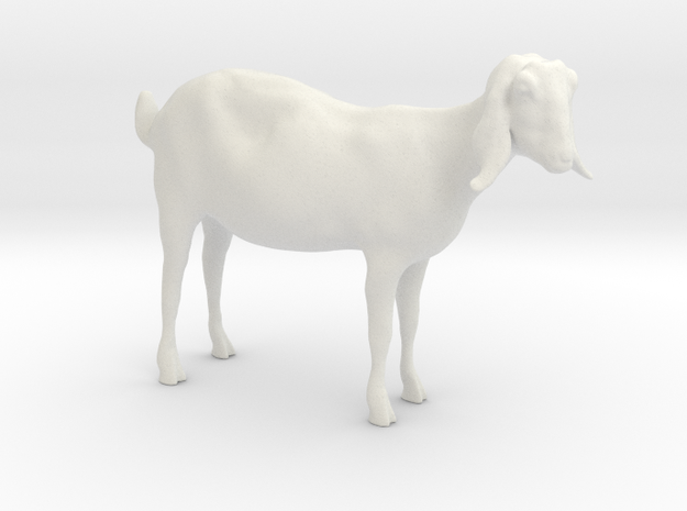 3D Scanned Nubian Goat 3cm in White Natural Versatile Plastic