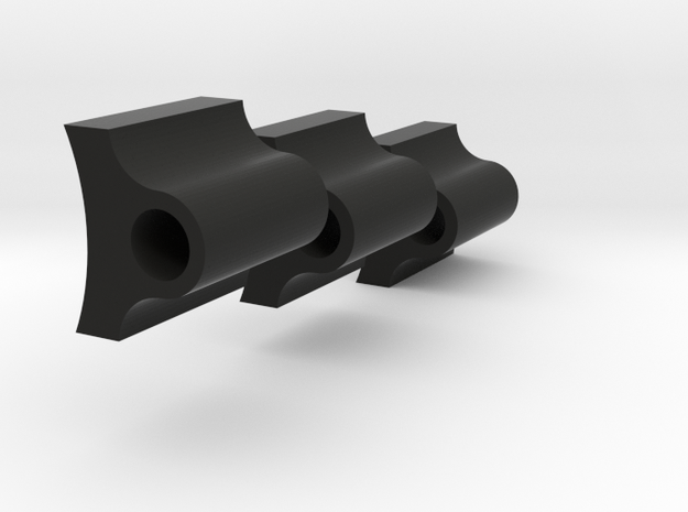 CC HINGE SHAFT SHAPEWAYS 3X 1-inch-SHIM in Black Strong & Flexible