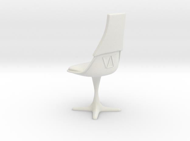 TOS Burke 115 Bridge Chair V2 in White Natural Versatile Plastic: 1:12