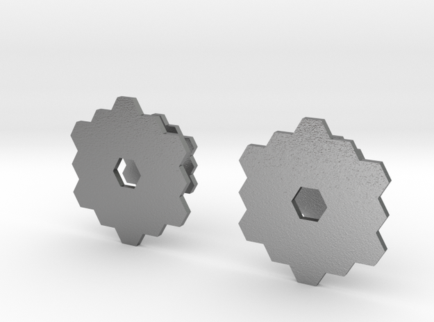 Hexagon Lattice Cuff Links