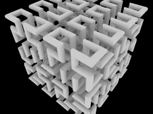 Hilbert Curve 3d printed Thanks to Craig Kaplan for this render: using Sunflow (sunflow.sourceforge.net) and ambient occlusion shading.