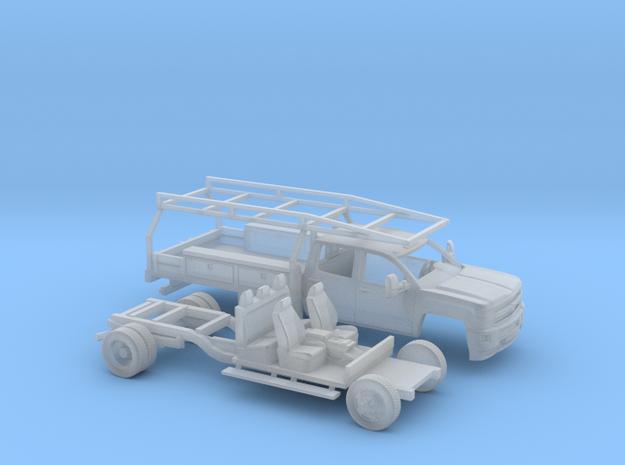 1/160 2015 Chevrolet Silverado Dually Contractor in Smooth Fine Detail Plastic