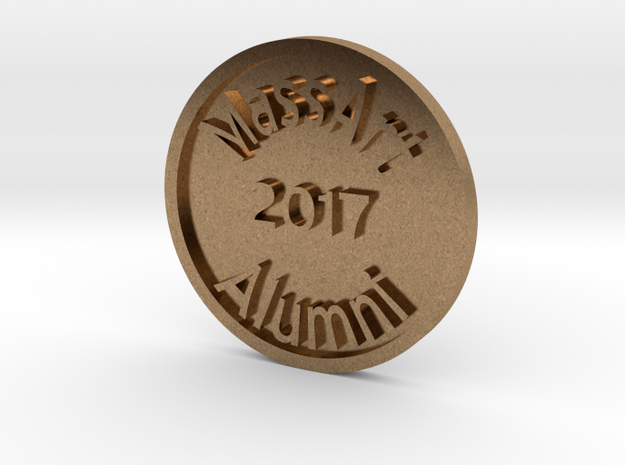 Massart alumni token in Raw Brass