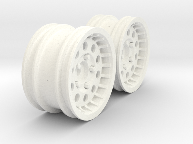 Wheels - M-Chassis - 037 Style - 3mm Offset in White Processed Versatile Plastic