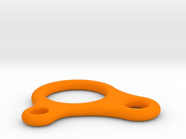 Sliding Hitch line adjuster in Orange Processed Versatile Plastic